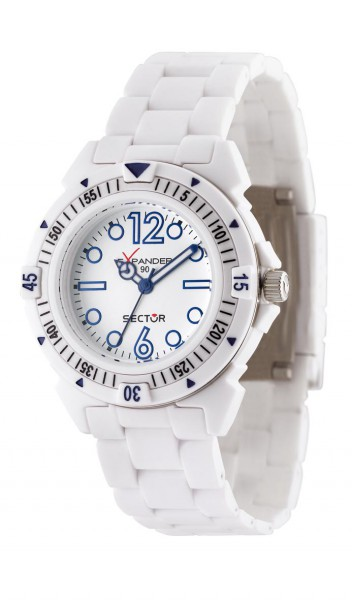 Sector Uhr R3251197009 sportliche Quarzwerk Taucheruhr von Sector aus dem Hause Abramowicz mit weißem Ziffernblatt. Die Uhr zeichnet sich durch das Kratzunempfindliche Mineralglas aus, desweiteren besitzt die Uhr ein weißes Kunststoffgehäuse. Das Armband