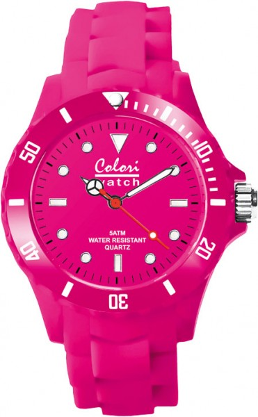 Colori Uhr, pink, 36mm,Silikonband, 5 AT...