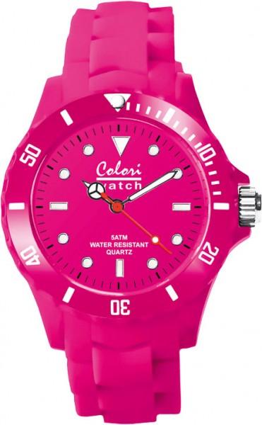 Colori Uhr, pink, 36mm,Silikonband, 5 AT...