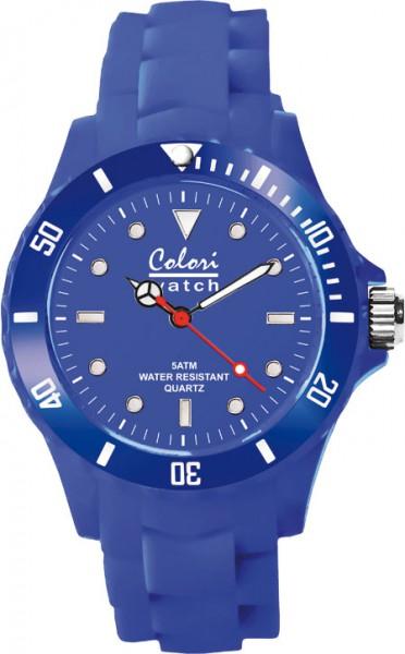 Colori Uhr, 40mm, cobaltblau. Silikonban...