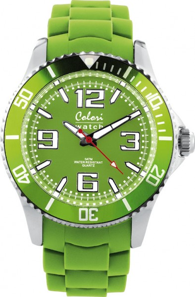 Colori, 40mm, Silikonband,hellgrün, 5 A...