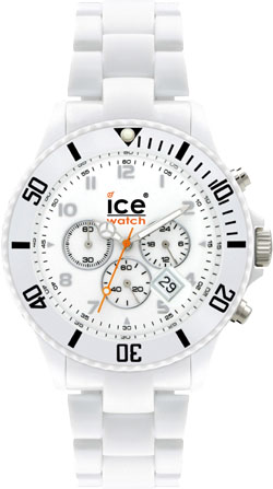 Ice Watch weiss Chrono White Big CH.WE.B.P.09 Silikonuhren