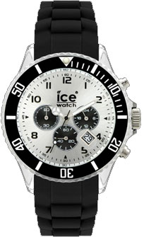 Ice Watch Chrono Black Big, schwarz Sili...