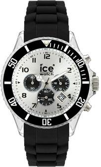 Ice Watch Chrono Black Big, schwarz Sili...
