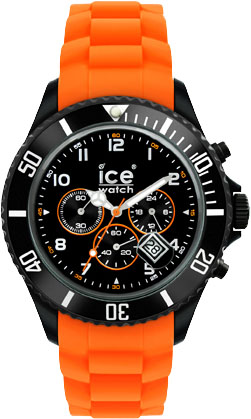 Ice Watch Chrono Black Orange Big Siliko...